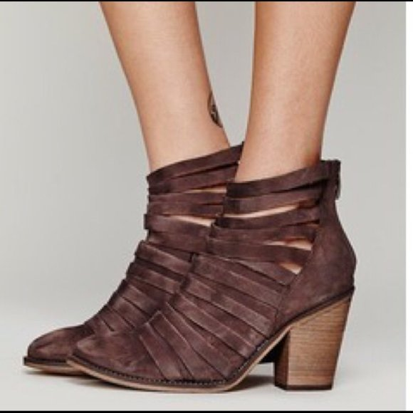 Free people brown leather boots